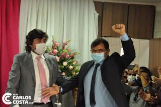 Em eleição apertada com placar de 5×4 Wanderley Mendes (PL) é o novo presidente da Câmara de Carnaubais