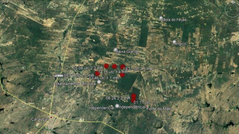 Labsis da UFRN registra 10 tremores de terra em Caraúbas no final de semana