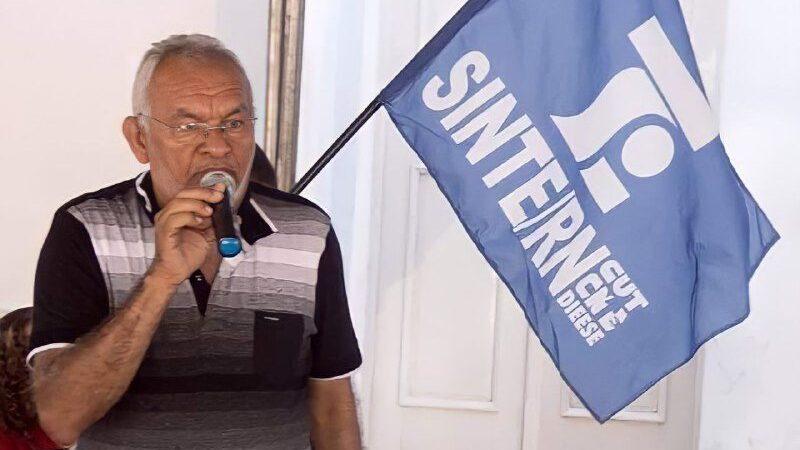 Morre de Covid-19, o professor Zé Teixeira, coordenador-geral do Sinte/RN