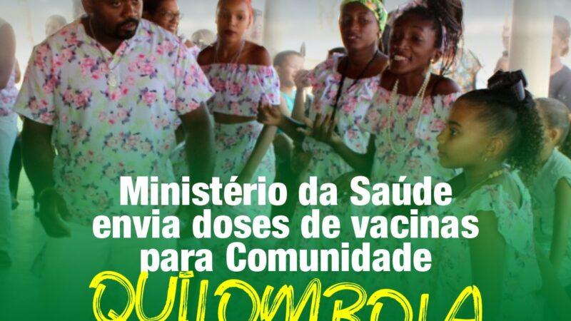 Ministério da Saúde envia doses de vacinas para Comunidade Quilombola de Patu