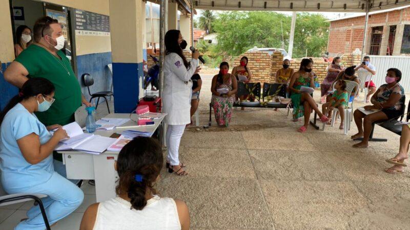 Gestantes de Tibau recebem informações sobre saúde bucal