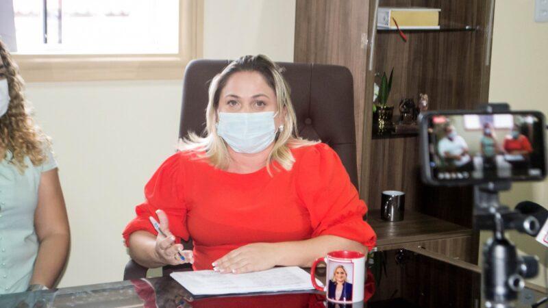 Prefeita Cinthia Sonale faz pronunciamento de 100 dias de gestão