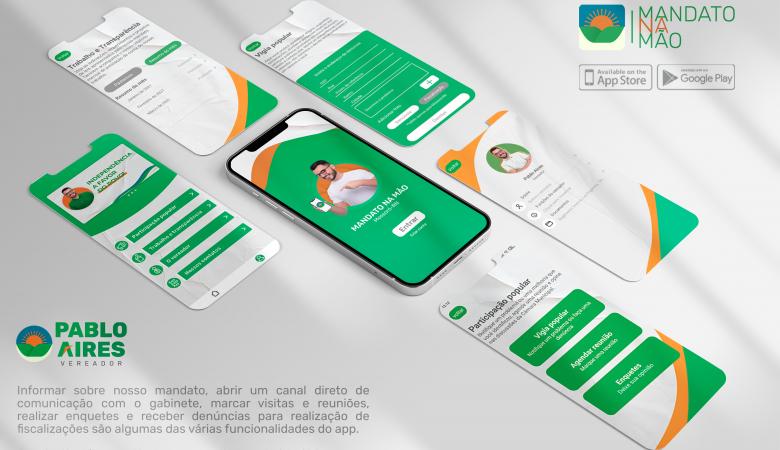 Vereador Pablo Aires lança aplicativo que conecta população ao seu gabinete