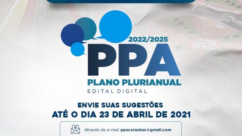 Prefeitura de Caraúbas lança edital digital para discutir Plano Plurianual 2022/2025