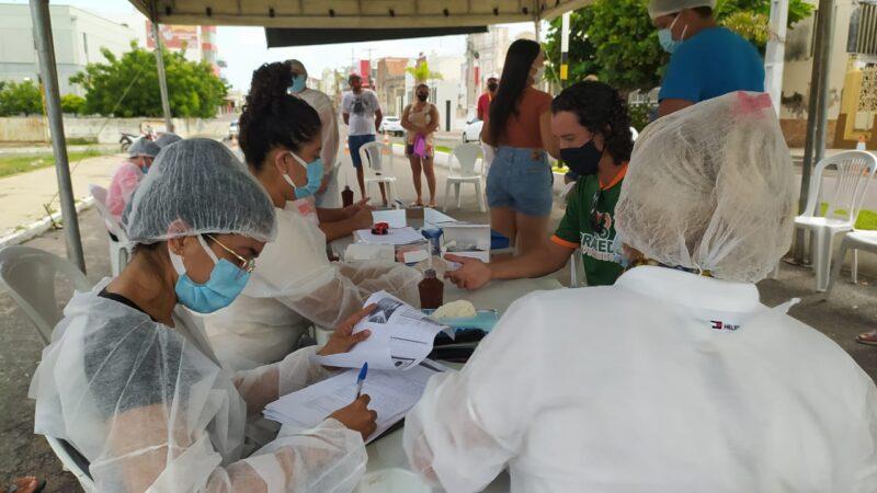 Drive-Thru Direcionado testa 440 servidores e trabalhadores essenciais durante feriadão de Páscoa em Caraúbas