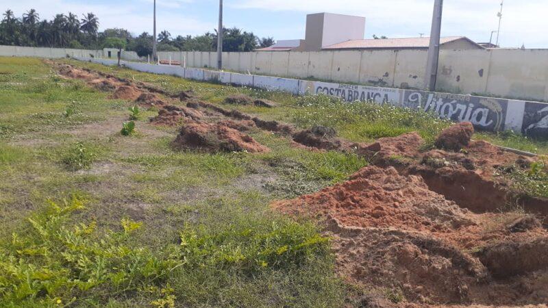 Prefeitura realiza serviços de manutenção no estádio José Nogueira Dantas