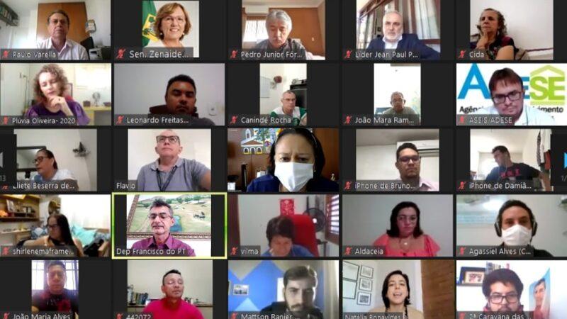 Deputado Francisco do PT reúne mais de 350 lideranças do RN em ato virtual para cobrar transposição do São Francisco