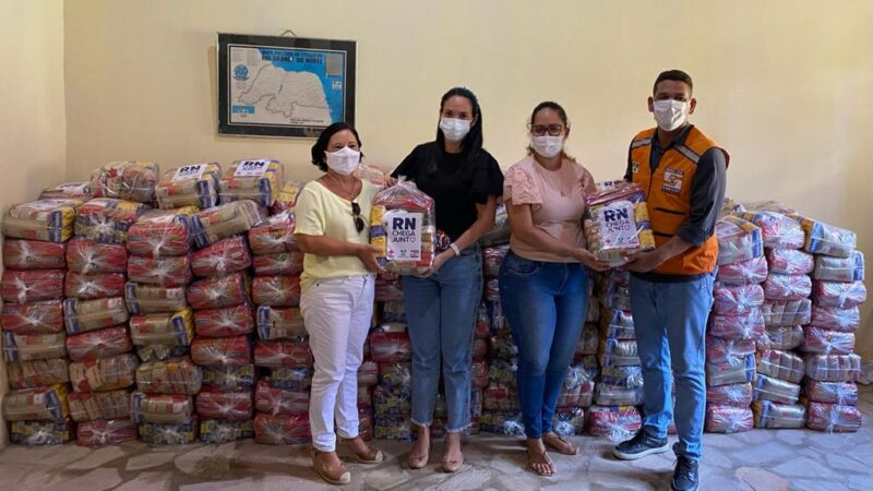 Grossos recebe 320 cestas básicas da Campanha RN Chega Junto Contra a Fome