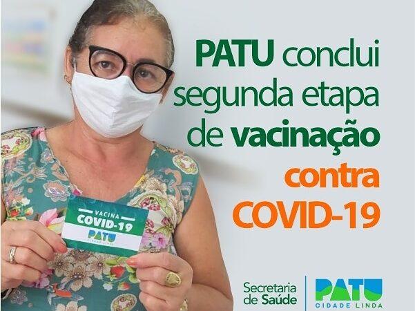 Patu conclui segunda etapa de vacinação contra Covid-19