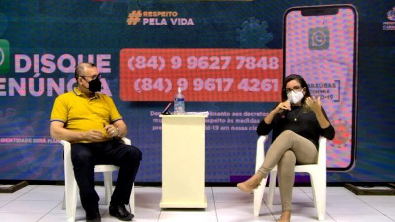 Prefeitura de Caraúbas realiza live para fazer balanço do lockdown e anuncia flexibilização