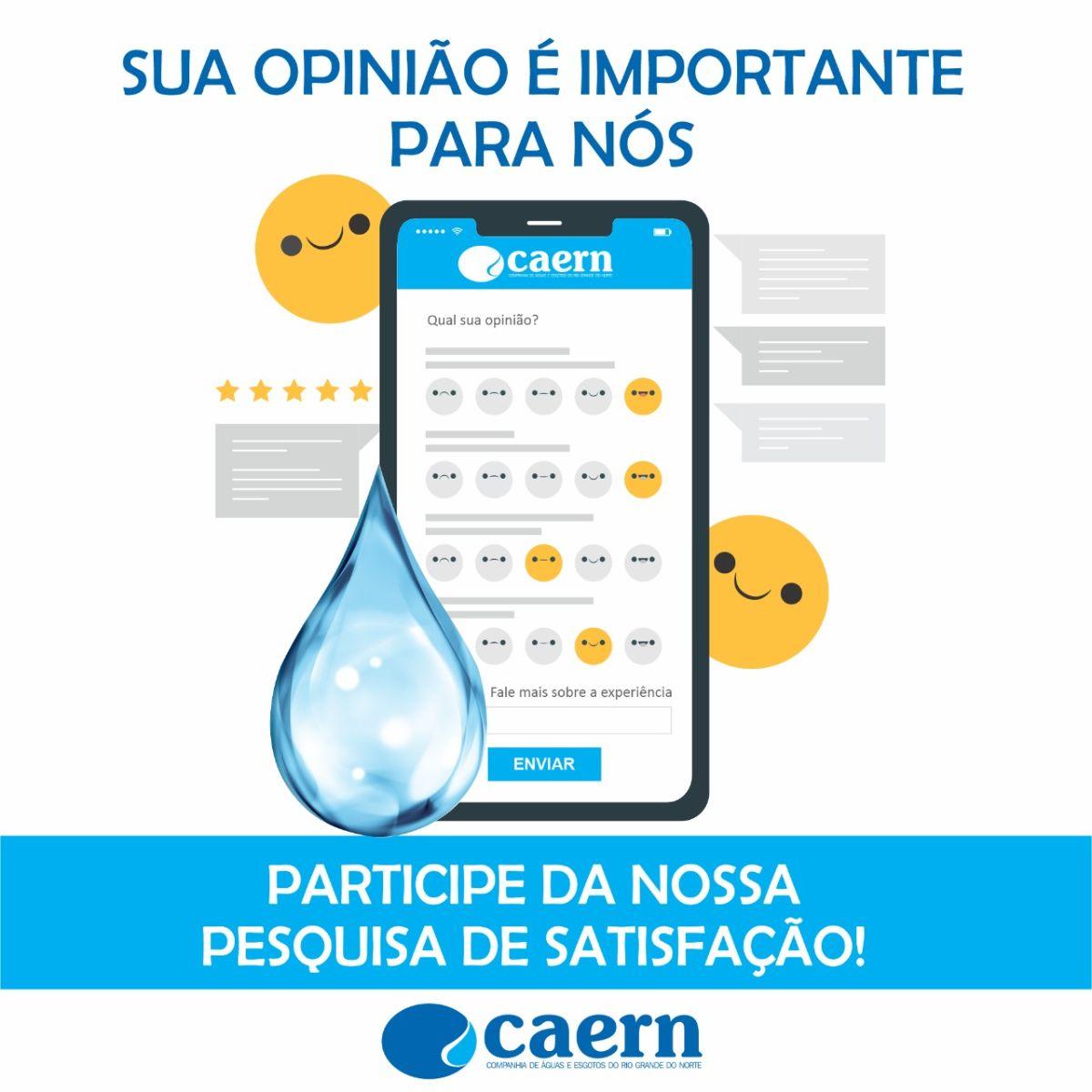 Caern realiza pesquisa de satisfação por SMS, site e Instagram