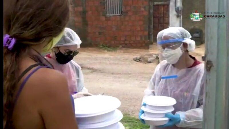 Convênio: Governo e Prefeitura de Caraúbas garante 450 refeições diárias à famílias carentes durante lockdown