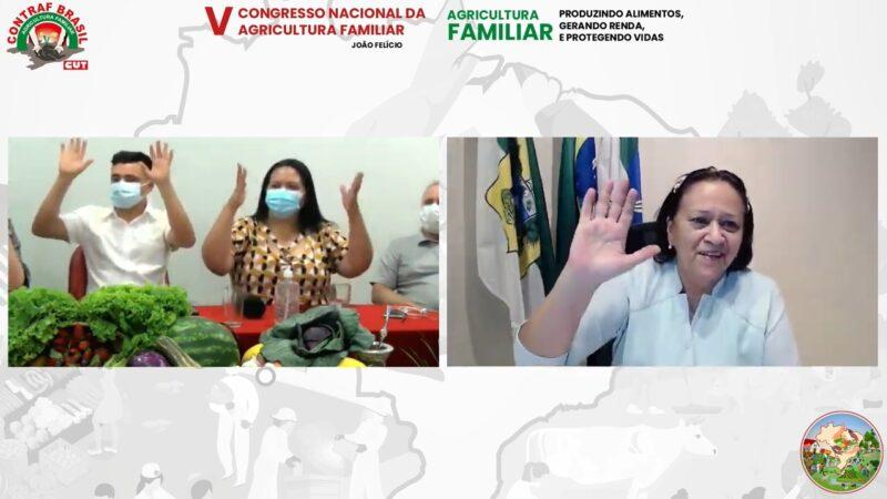 Fátima destaca ações em prol da agricultura familiar na abertura de congresso da Contraf