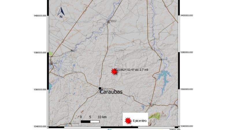 LabSis-UFRN confirma abalo sísmico de 2.7 em Caraúbas