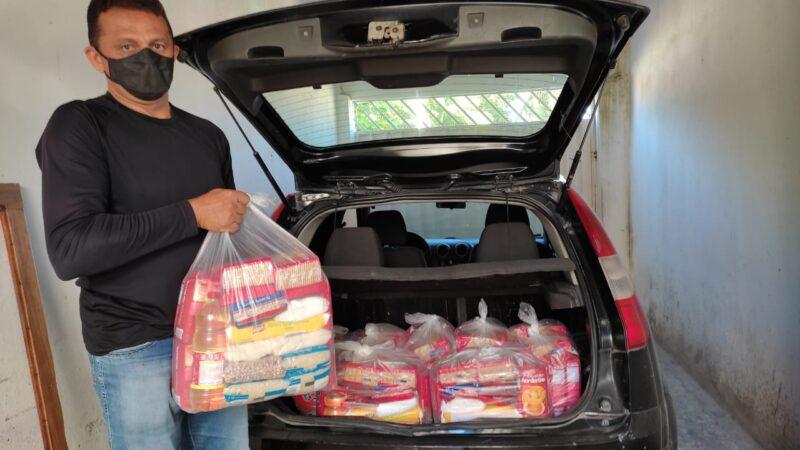 Igreja de Cristo do Leandro Bezerra em Caraúbas realiza entrega cestas básicas