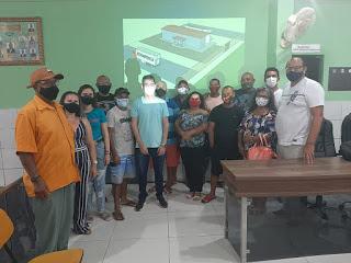 Reunião discute implantação de unidade de beficiamento de pescado em Porto do Mangue