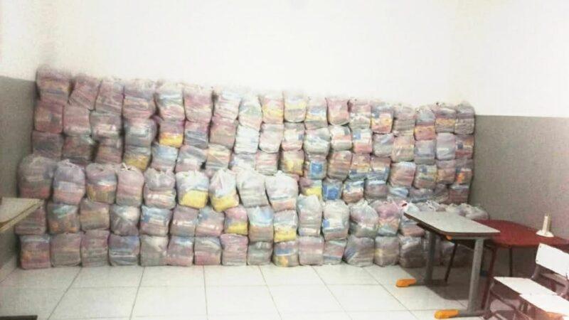 Prefeitura realiza entrega de 1.200 kits de merenda escolar nesta quinta-feira, 17