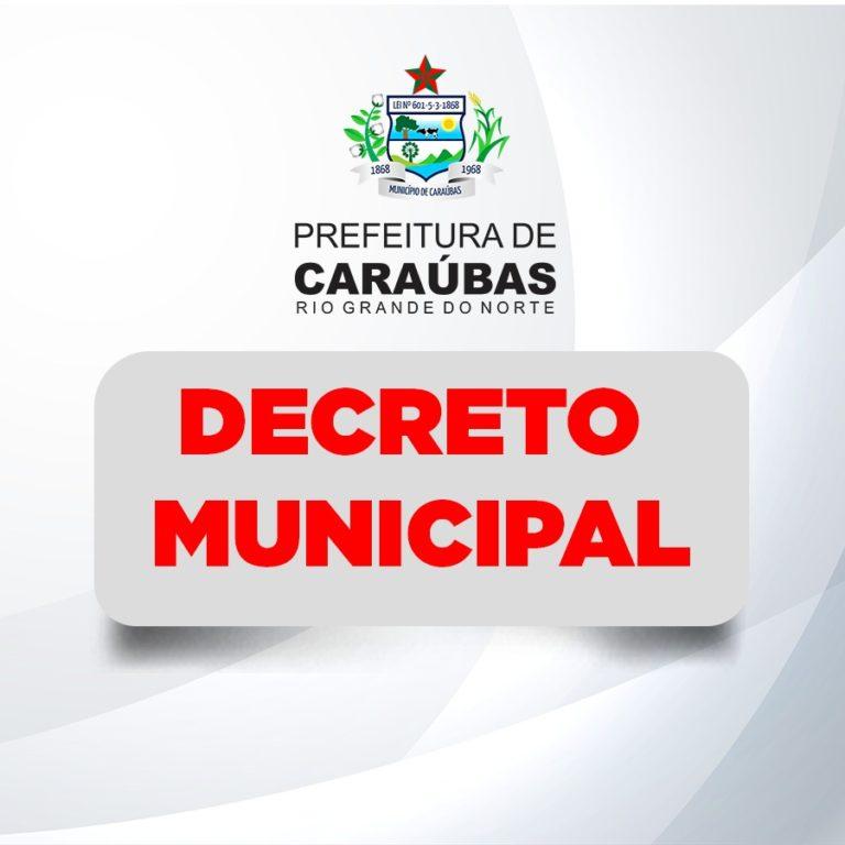 Prefeitura de Caraúbas decreta ponto facultativo na sexta-feira, pós-feriado de Corpus Christi