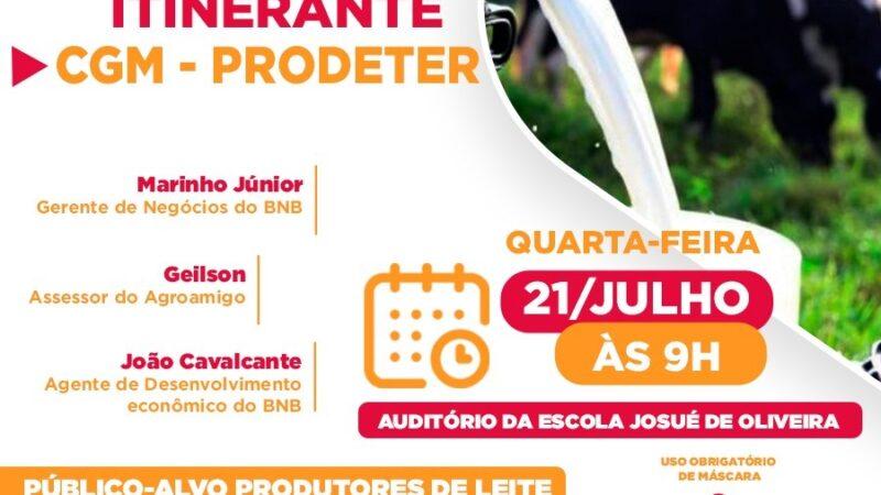 Parceria da Prefeitura de Caraúbas e Banco do Nordeste disponibiliza linha de crédito ao produtores leiteiros do município