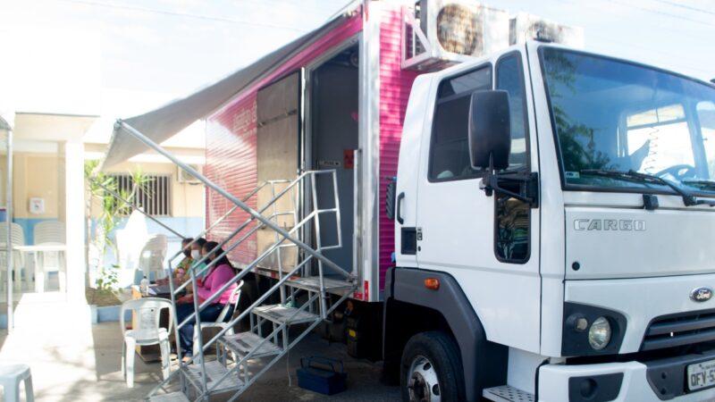 """Unidade Móvel """" Amigo do Peito """" desembarca em Grossos para realização de mamografias"""