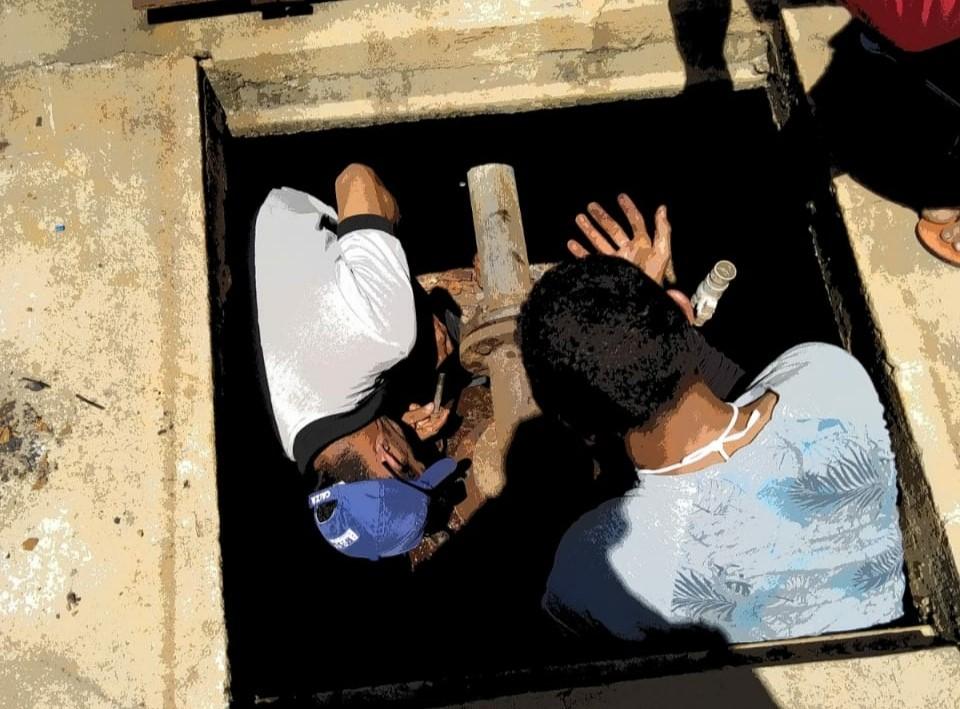 Bomba de adutora da comunidade de Mariana em Caraúbas passa por consertos