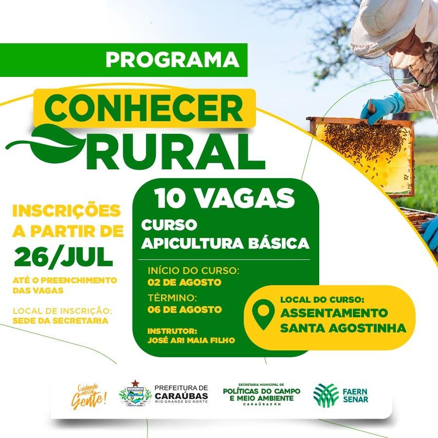 Parceria da Prefeitura de Caraúbas Faern/Senar disponibiliza curso de apicultura para criadores