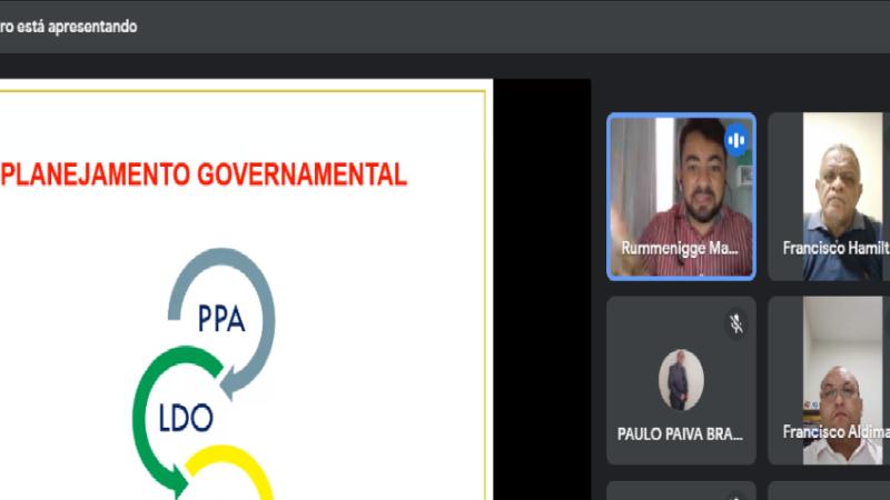 Audiência virtual discute metas para elaboração do PPA orçamentário no município de Caraúbas