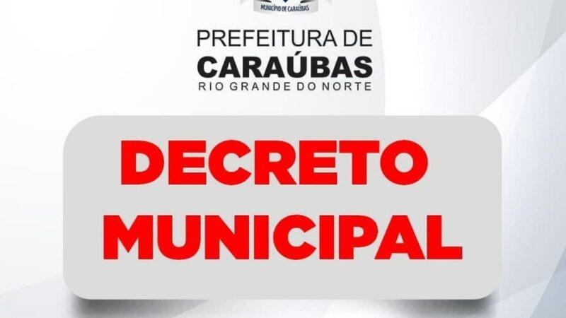 Decreto municipal flexibiliza ações contra Covid-19 e autoriza aberturas de bares em Caraúbas