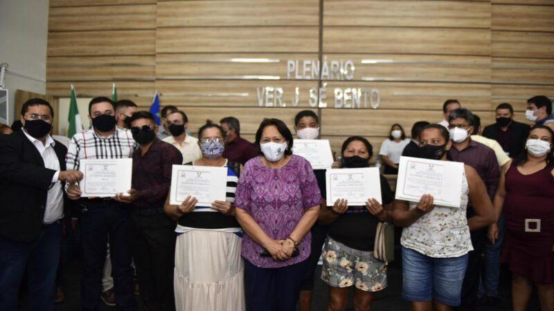 Governadora entrega 115 títulos de Regularização Fundiária em Serra do Mel