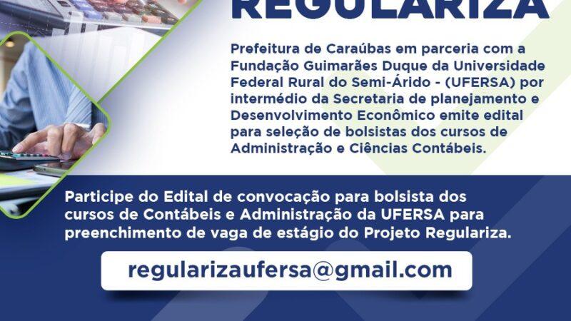 Parceria entre prefeitura de Caraúbas e Ufersa lança edital para bolsistas