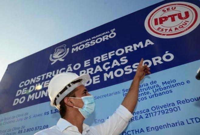 Allyson Bezerra solicita aditivo de R$ 103.931,74 ao valor de obra de praça contratada com recursos do Finisa
