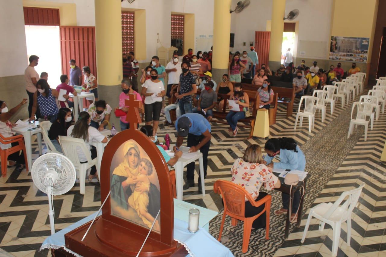 Secretaria de Saúde monta estrutura para para vacinar grupo de 45 mais em Caraúbas