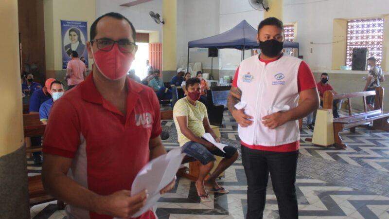 Após desinfecção diária do Santuário Secretaria de Saúde dá prosseguimento à vacinação para o setor industrial