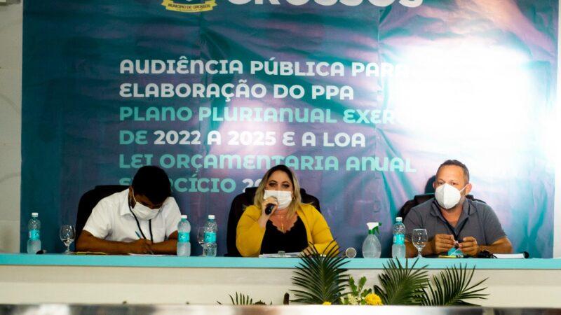 Prefeitura de Grossos realiza audiência para a construção do Plano Plurianual e Lei de Diretrizes Orçamentárias