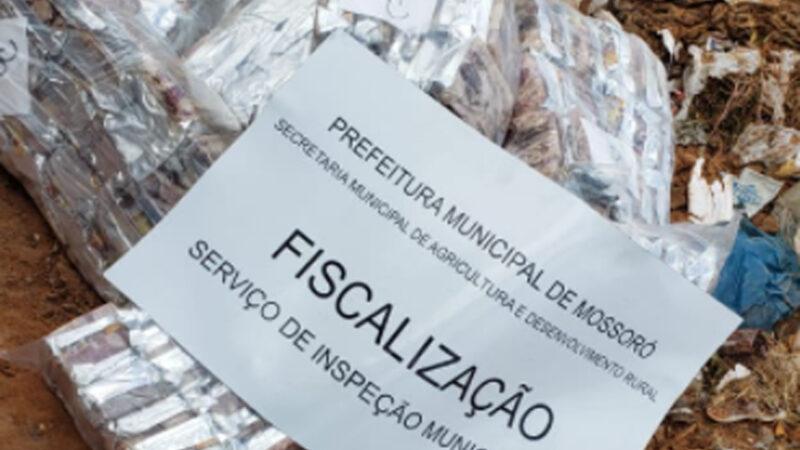 Fiscalização apreende 4 toneladas de carne de charque imprópria para consumo em Mossoró