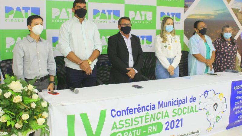 Patu realiza IV Conferência Municipal de Assistência Social em formato remoto