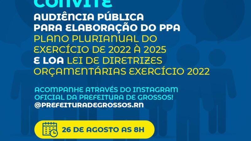 Prefeitura de Grossos realiza audiência pública para discutir o PPA e LOA com a população