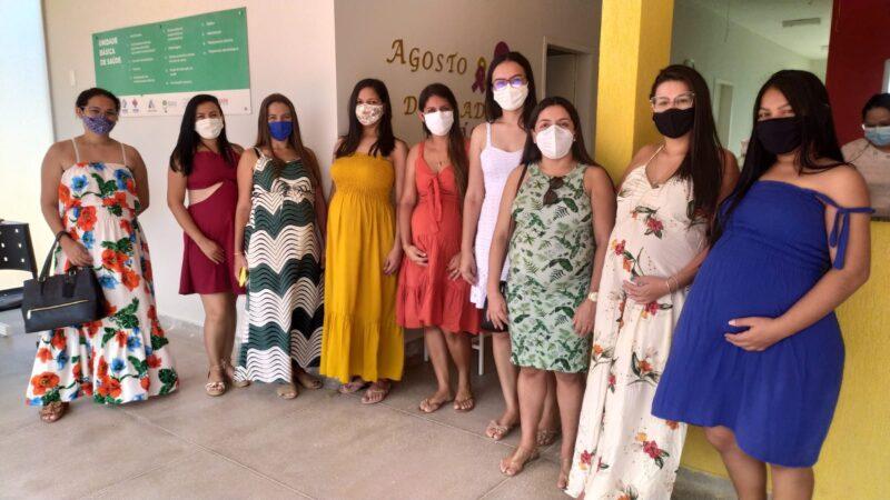 Gestantes participam de roda de conversa na UBS Dr. João Marinaldo de Holanda em Caraúbas