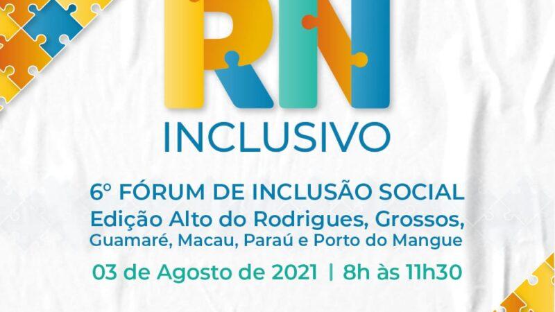 Grossos participa do 6º Fórum de Inclusão Social nesta terça-feira, (3)