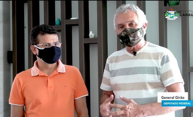 Caraúbas presta contas de emendas apresentadas pelo General Girão