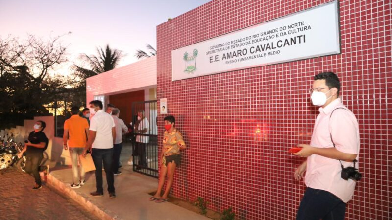 Governadora entrega oficialmente Escola Amaro Cavalcanti em Jardim de Piranhas