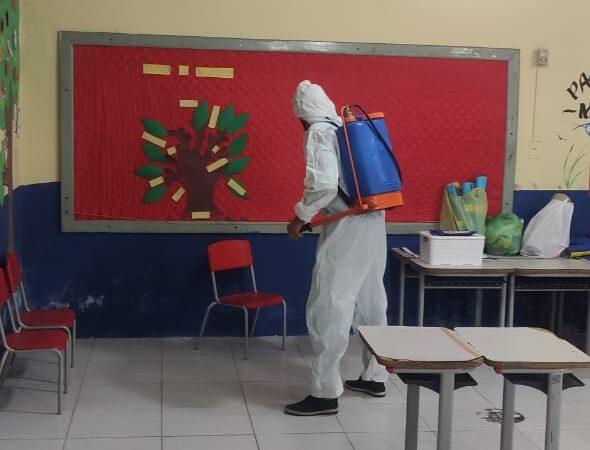 Escolas e transporte escolar passam por higienização para retorno às aulas presenciais