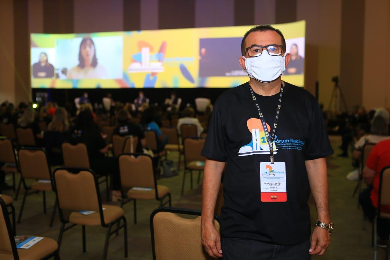 O secretário de Educação, Francisco Antônio Alves esteve em Brasília participando do 18º fórum da Undime