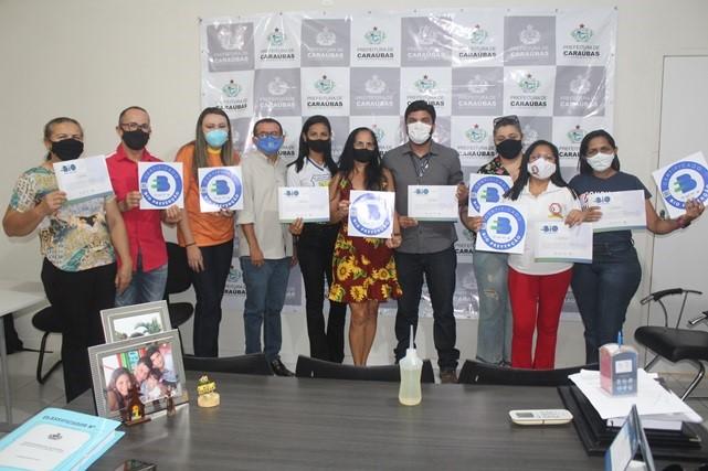Sebrae entrega selo e certificado de Bioprevenção a seis escolas de Caraúbas
