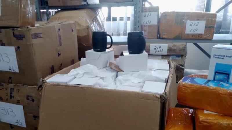 Operação apreende R$ 775 mil em produtos, principalmente eletrônicos, sem nota em empresas de logística