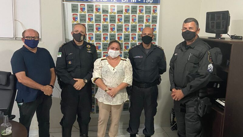 Prefeita Cinthia Sonale consegue reforço policial para Grossos
